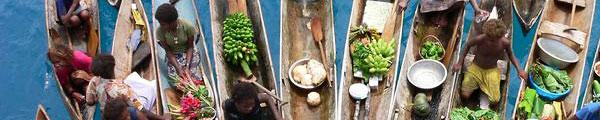 flydende marked på Solomon-øerne