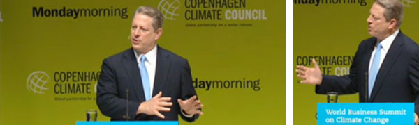 Al Gore taler på World Business Summit on Climate Change